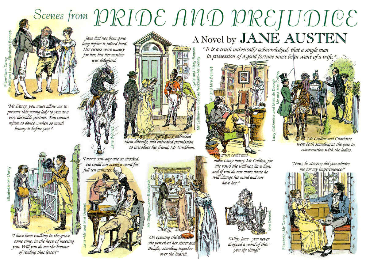 Interesting facts about pride and prejudice interesting for The book of life characters names