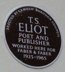 Eliot plaque