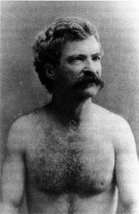 Mark Twain Shirtless