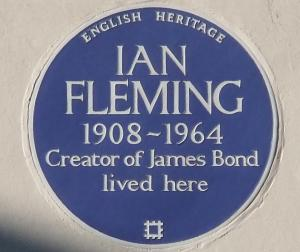 Ian Fleming plaque