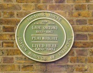 Joe Orton plaque