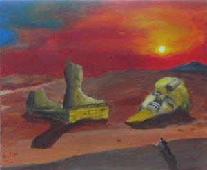 Ozymandias painting